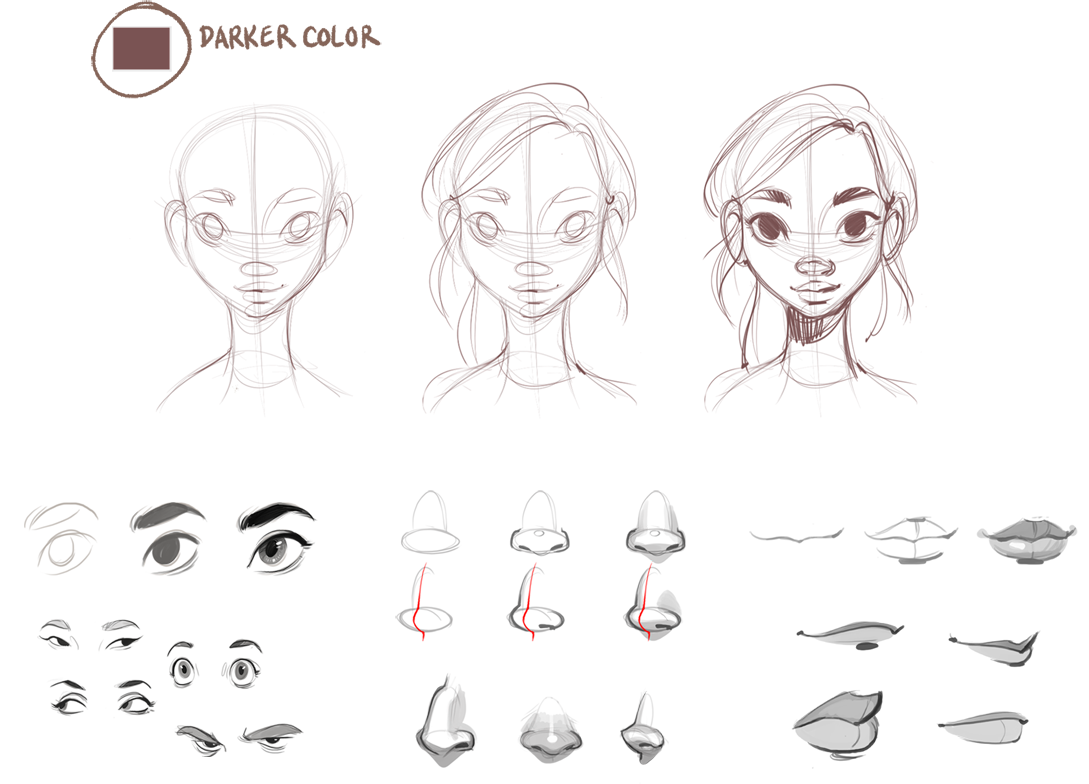 How to Draw Female Faces — Beautiful, symmetrical female ...