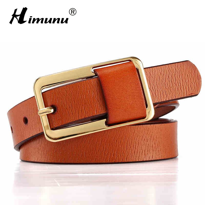 afdc19779 Hot Sale Brand Luxury Pin buckle 100% cowhide Female Belt for Women Hip-Hop  Genuine Leather Jeans Girdles Belts Candy 8 colors