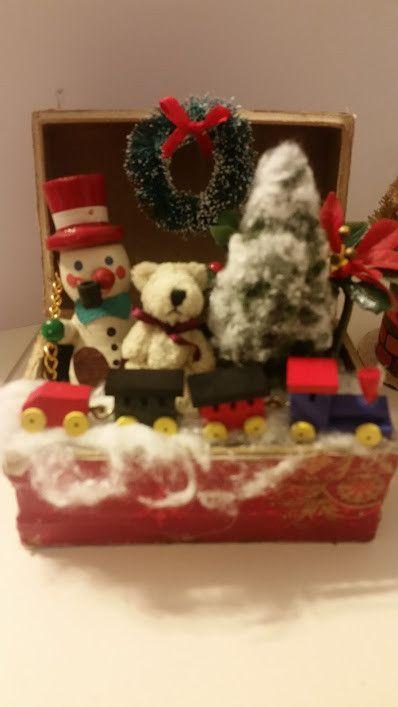 Vintage Christmas Toy Box