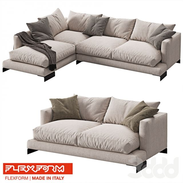 FLEXFORM LONG ISLAND 2 sofas | 3D Pool Furniture | Pinterest | Long ...