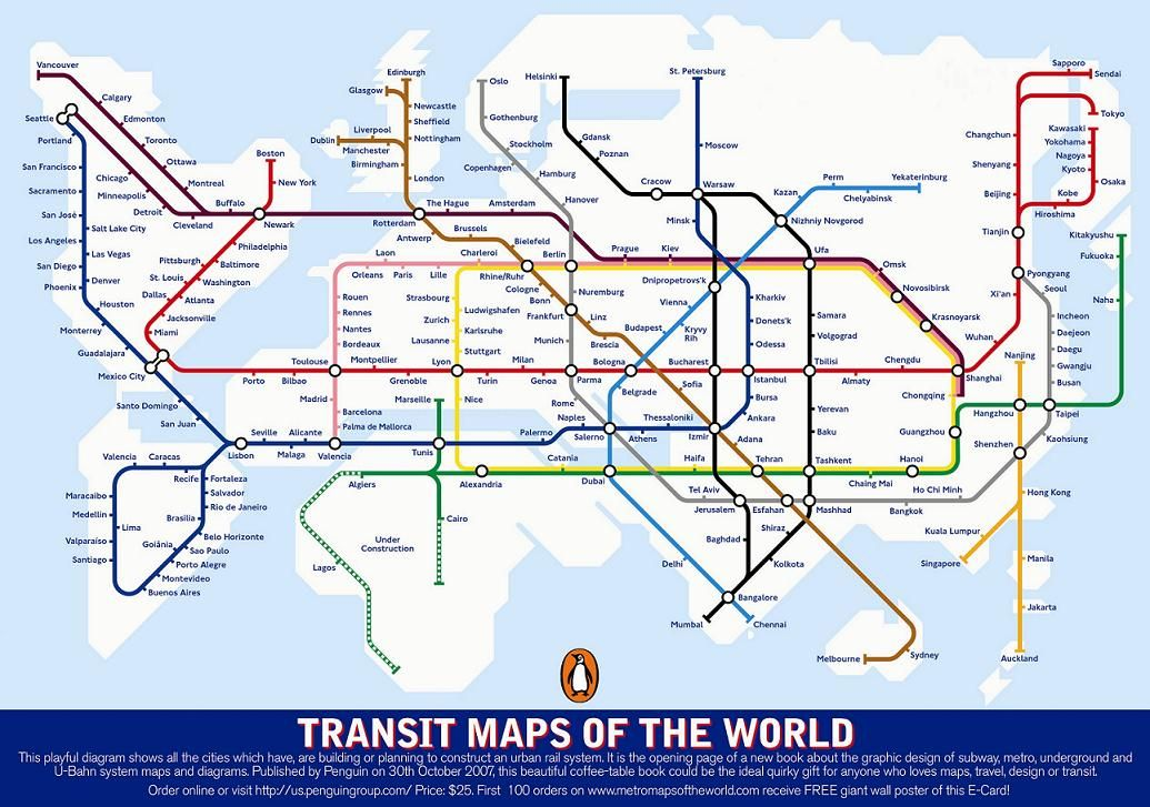 212  Transit Map of the Worlds Transit Systems  Underground map
