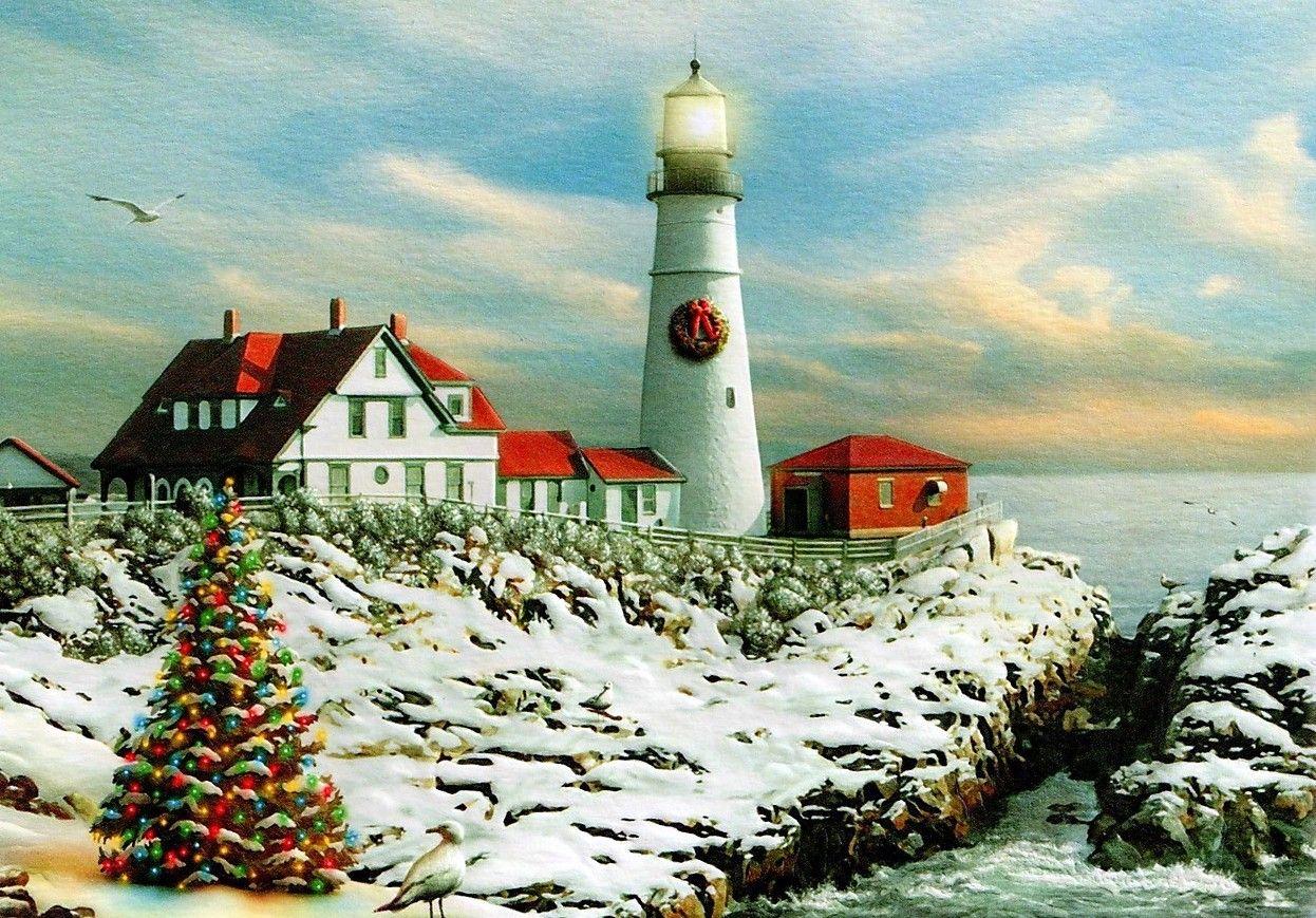 Cape Elizabeth ,Maine Lighthouse pictures, Christmas
