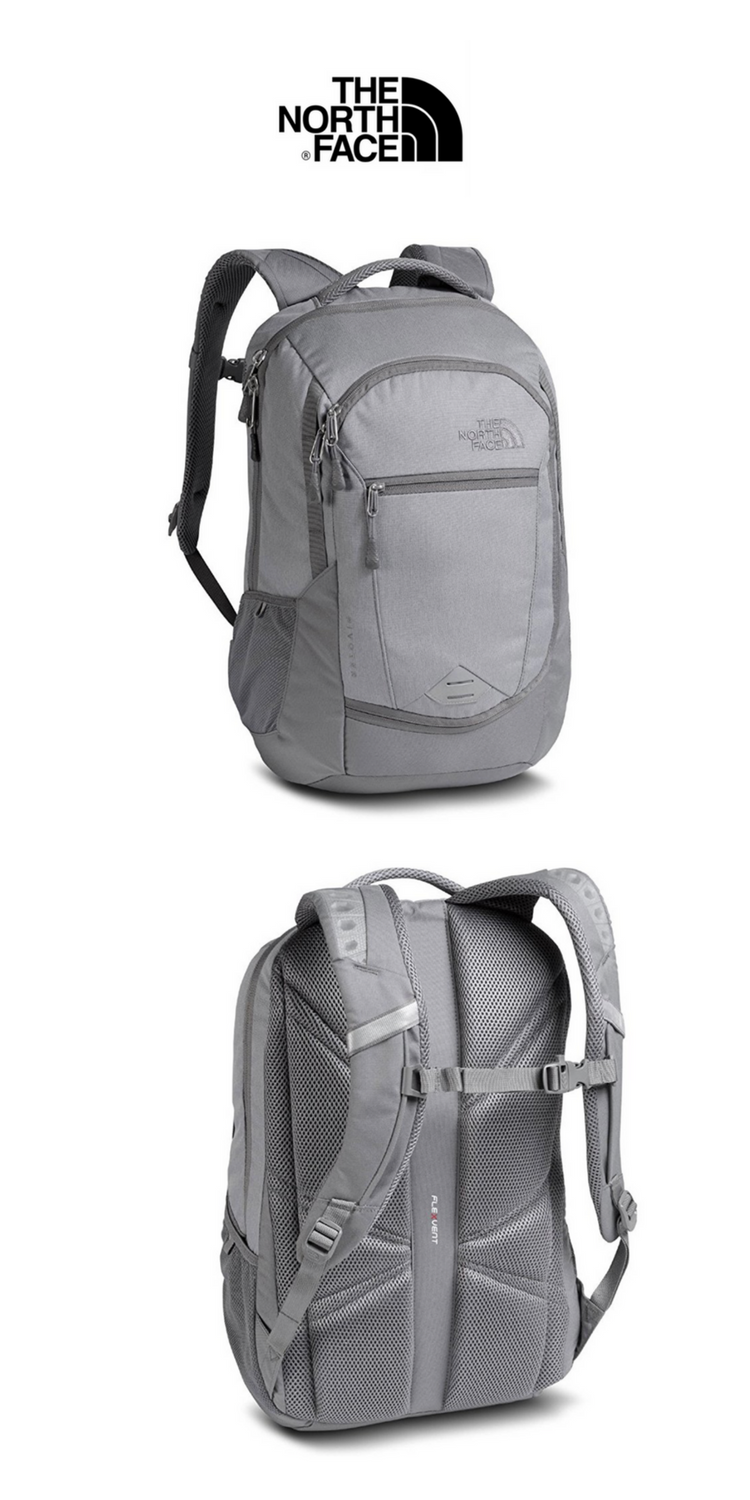 The North Face - Pivoter Backpack   Heather Zinc Grey   Click for Price and  More   North Face Backpack   Backpack Ideas   The North Face Outfits    Backpack ... 84bcd3c3d3