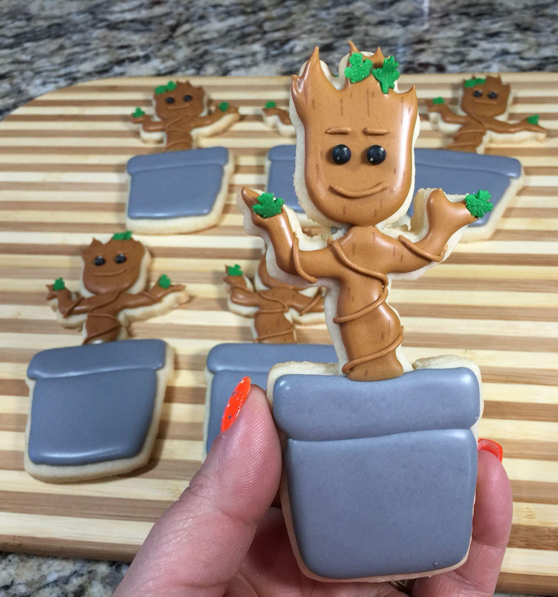 Guardians Of The Galaxy Dancing Baby GROOT Cookies..