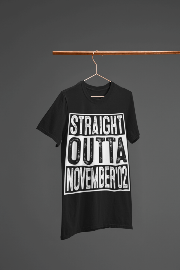 Straight Outta November 2002 T-Shirt 17 Year Old Gift #17thbirthday Unique 17th Birthday Gift Idea for teens - Straight Outta November 2002 T-Shirt. Amp up collection of accessories: apparel, cap, mug, diy, decorations, invitations. This Tshirt - Cool present for legend, children, pupil, youth, teenagers, dude, youth on Christmas, new year. #17thbirthday