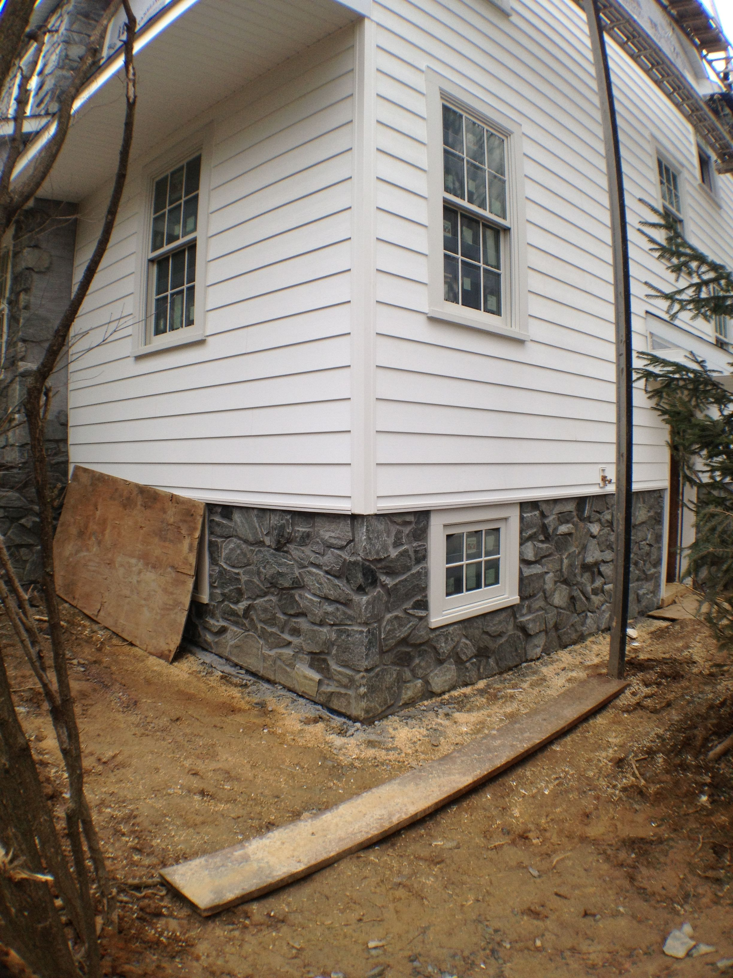 Everlast Siding And Real Stone Veneer With Andersen Windows Exterior House Options House Exterior Real Stone Veneer