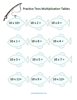 A+ Homeschool : FREE Multiplication Drill Sheet for 10's Tables