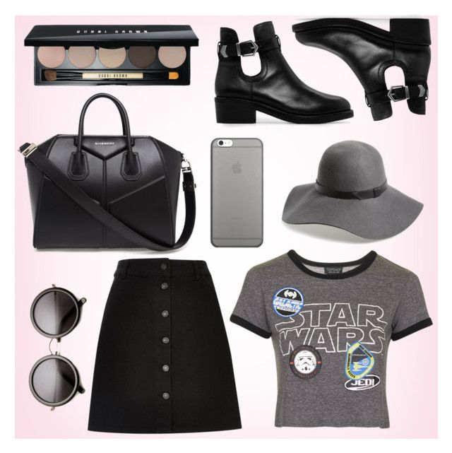 """Star Wars: The Force Awakens"" by fashionstylenoww ❤ liked on Polyvore featuring Topshop, River Island, MANGO, Givenchy, Hinge, Native Union, Bobbi Brown Cosmetics, starwars and contestentry"