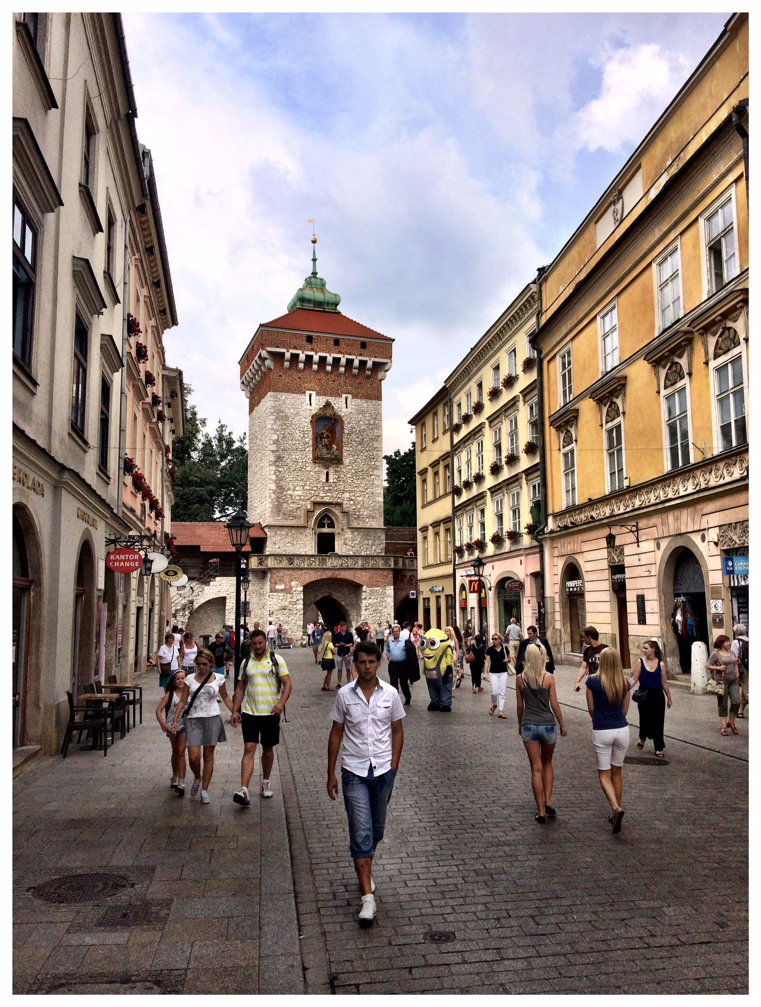 Main street in Krakow, Poland