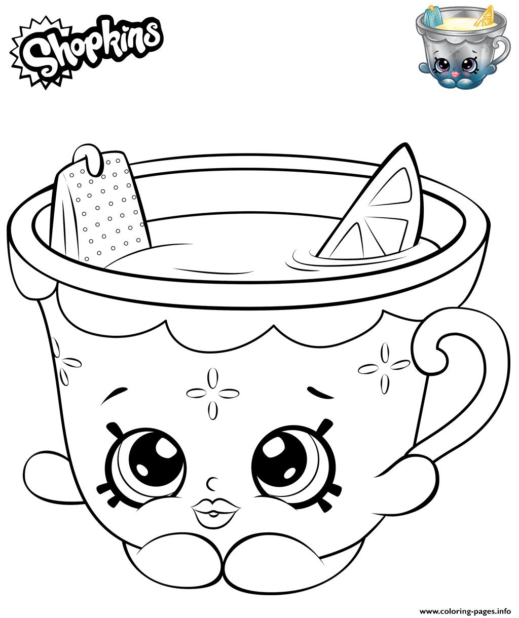 Print Honey Lemon Teacup Shopkins Coloring Pages