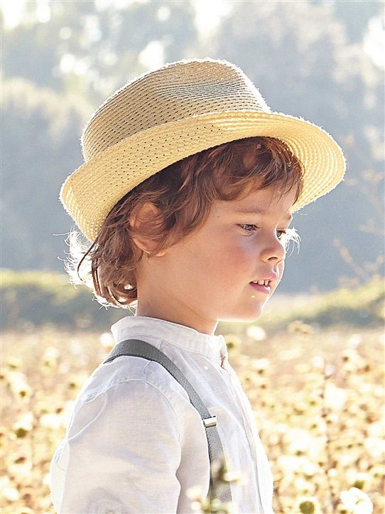 Fedora Enfants Chapeau Blanc//Bleu//Gris