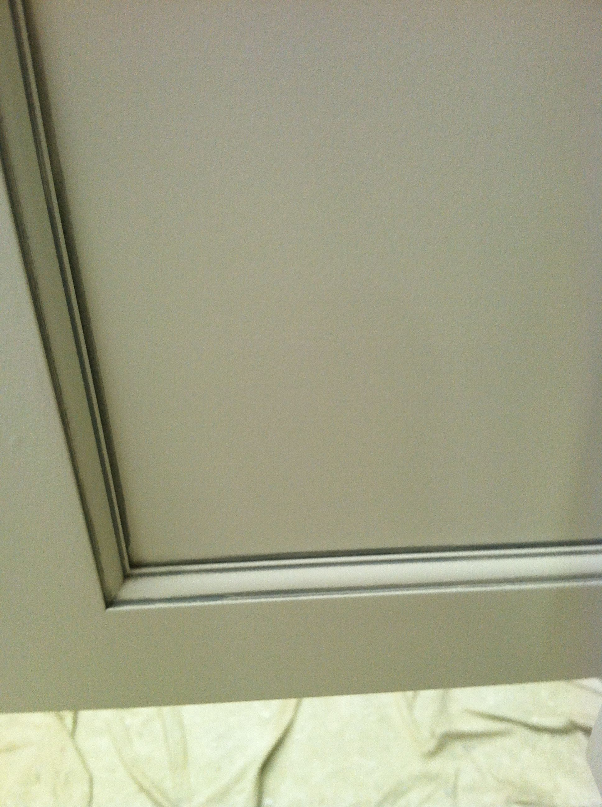 Here is a close up of the glazed cabinets