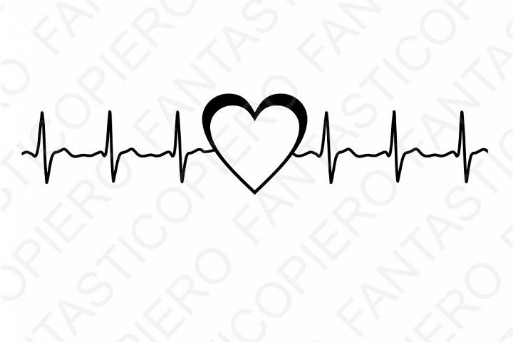 Heartbeat Line Art : Cardio heart svg files for silhouette cameo and cricut