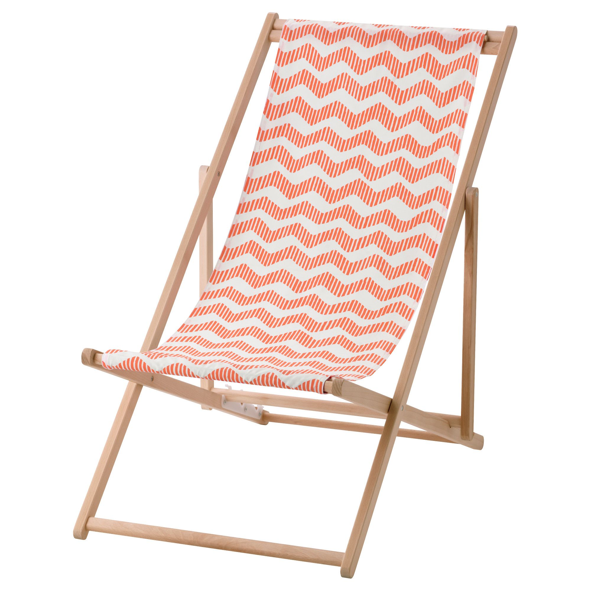 IKEA MYSINGS– Beach chair foldable light red