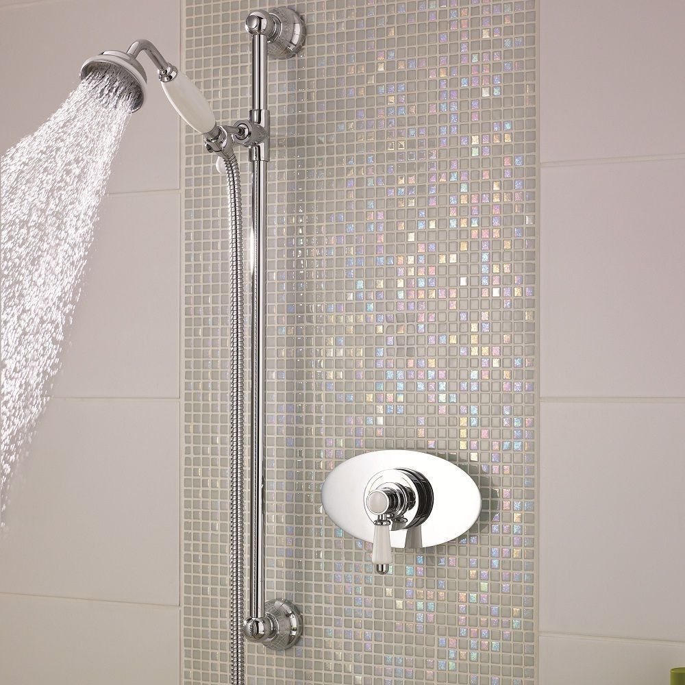 Traditional Concealed Sequential Thermostatic Shower with Slide Rail ...