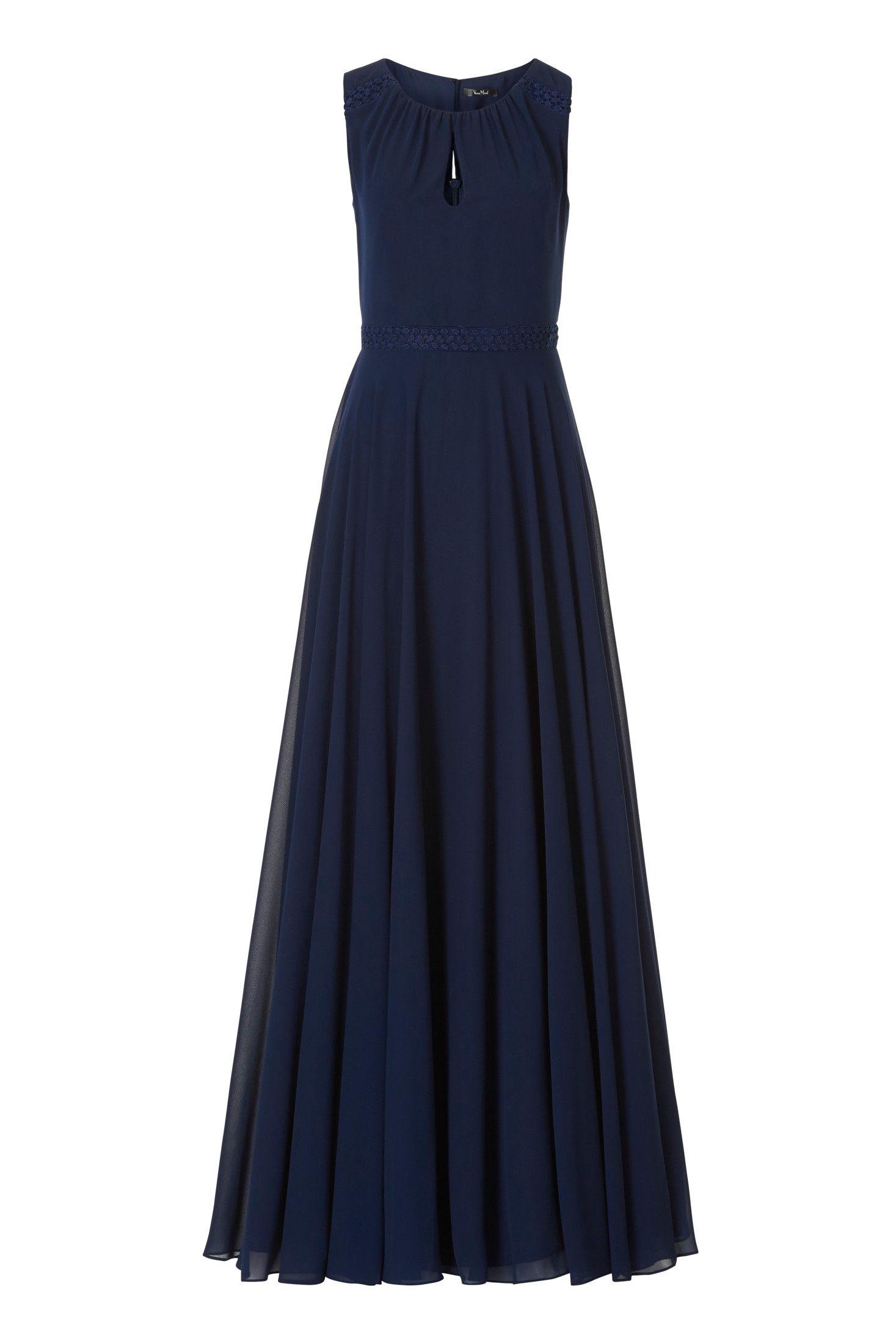Abendkleid aus feinem Chiffon  Abendkleid, Kleider, Langes satinkleid