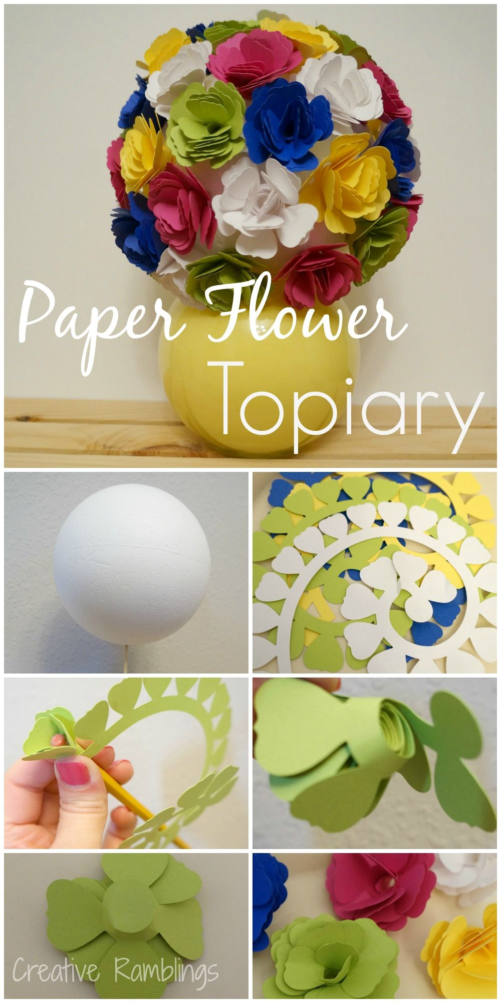 Paper Flower Topiary From Creative Ramblings Silhouette Cameo