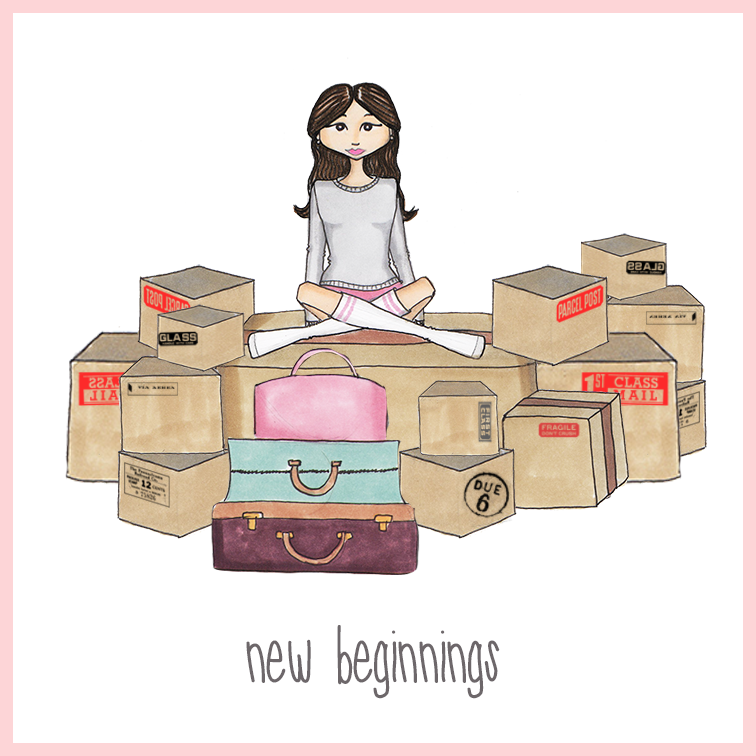 Cheers to new beginnings! Quotes illustration