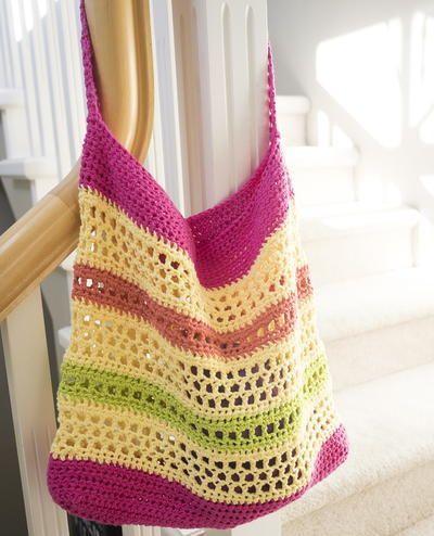 Beautiful Beach Tote Bag | CROCHET | Pinterest