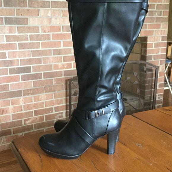 Black wide calf boots | Wide calf boots