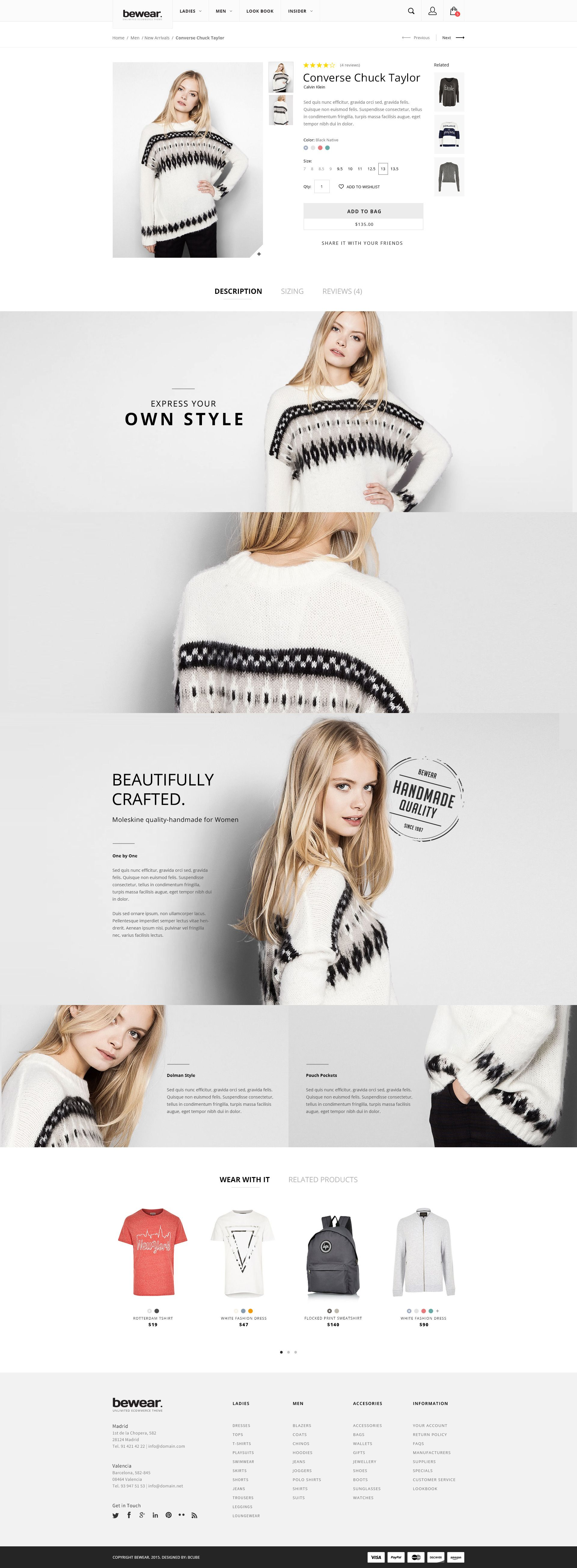 Bewear - Lookbook Style eCommerce PSD Template | // WebDesign ...