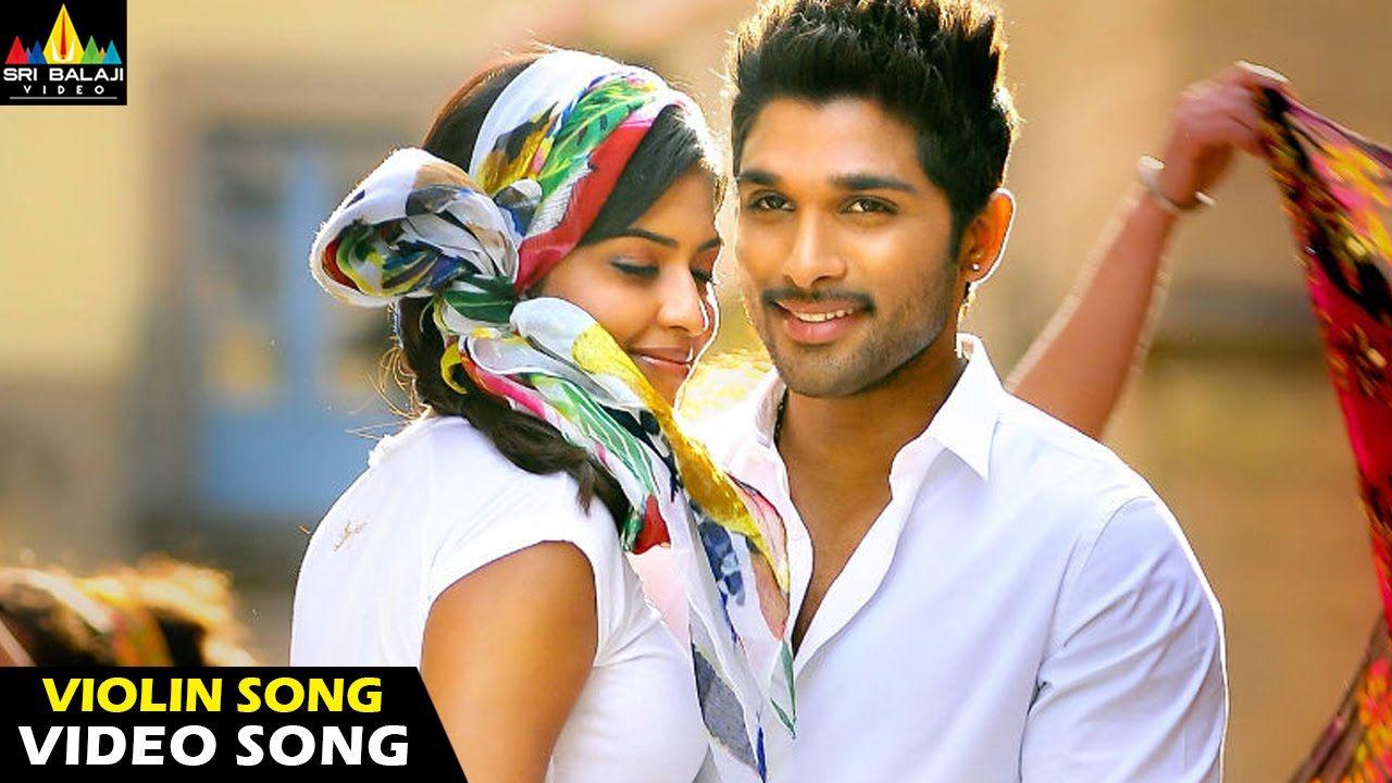 Iddarammayilatho Songs Violin Song Girl Just Video Song Latest Tel Dj Movie Movie Couples Cute Actors