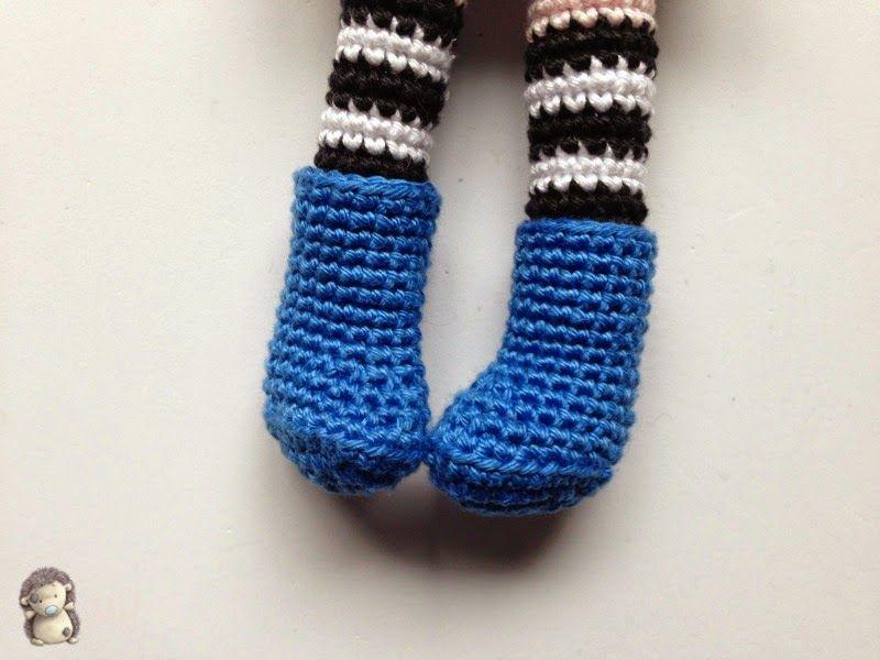 Botas crochet para muñeca | lanas, bordados & costuras | Pinterest ...