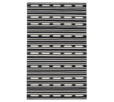 Del Ray Stripe Synthetic Indoor Outdoor Rug Synthetic