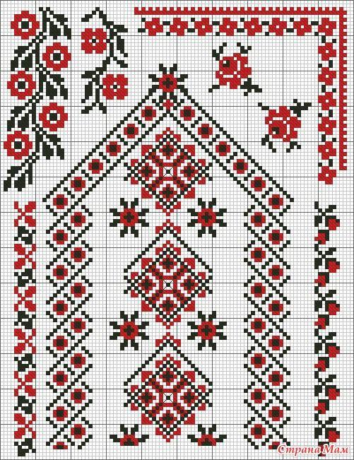 Традиции вышивок крестом