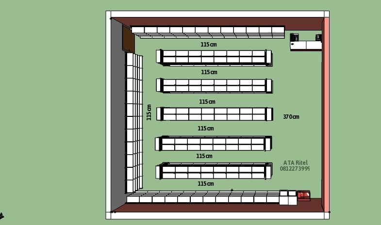 Desain Minimarket Supermarket Rak Toko Murah Rak Gondola Kokoh Rak Gudang Kuat Rak Buku Model Trendy Harga Rak Terjangkau Free Desay Layo Rak Desain Kota