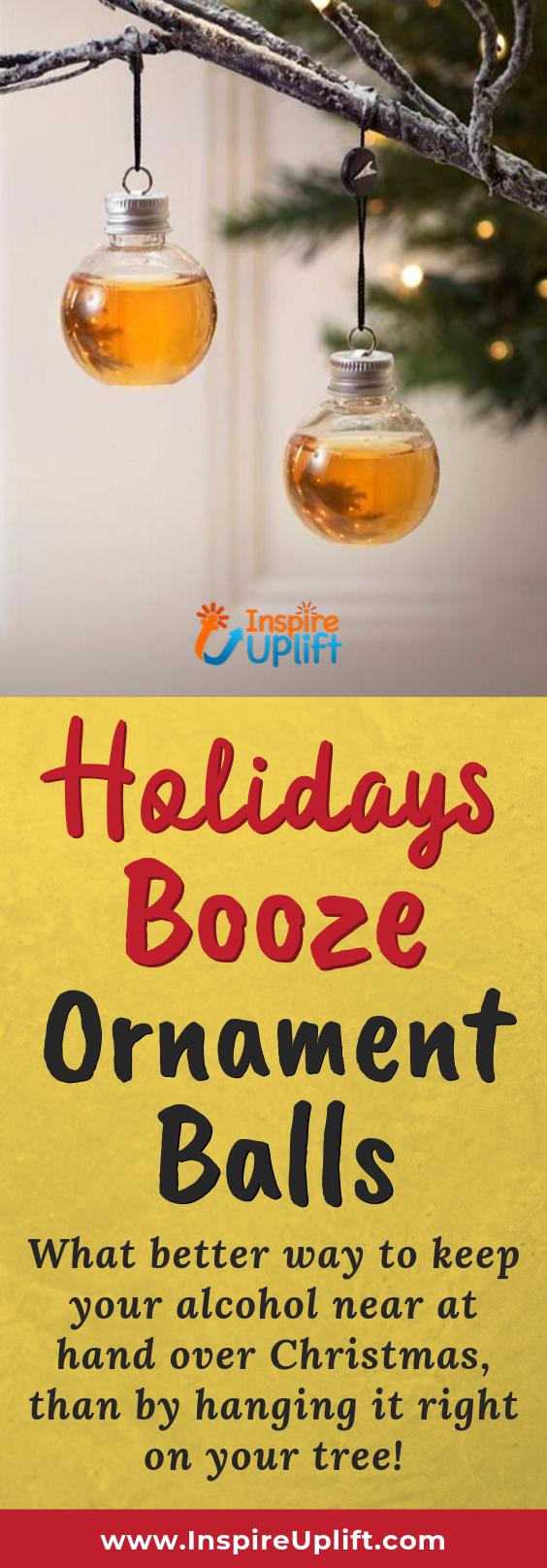 Holidays Booze Ornament Balls 😍 InspireUplift.com