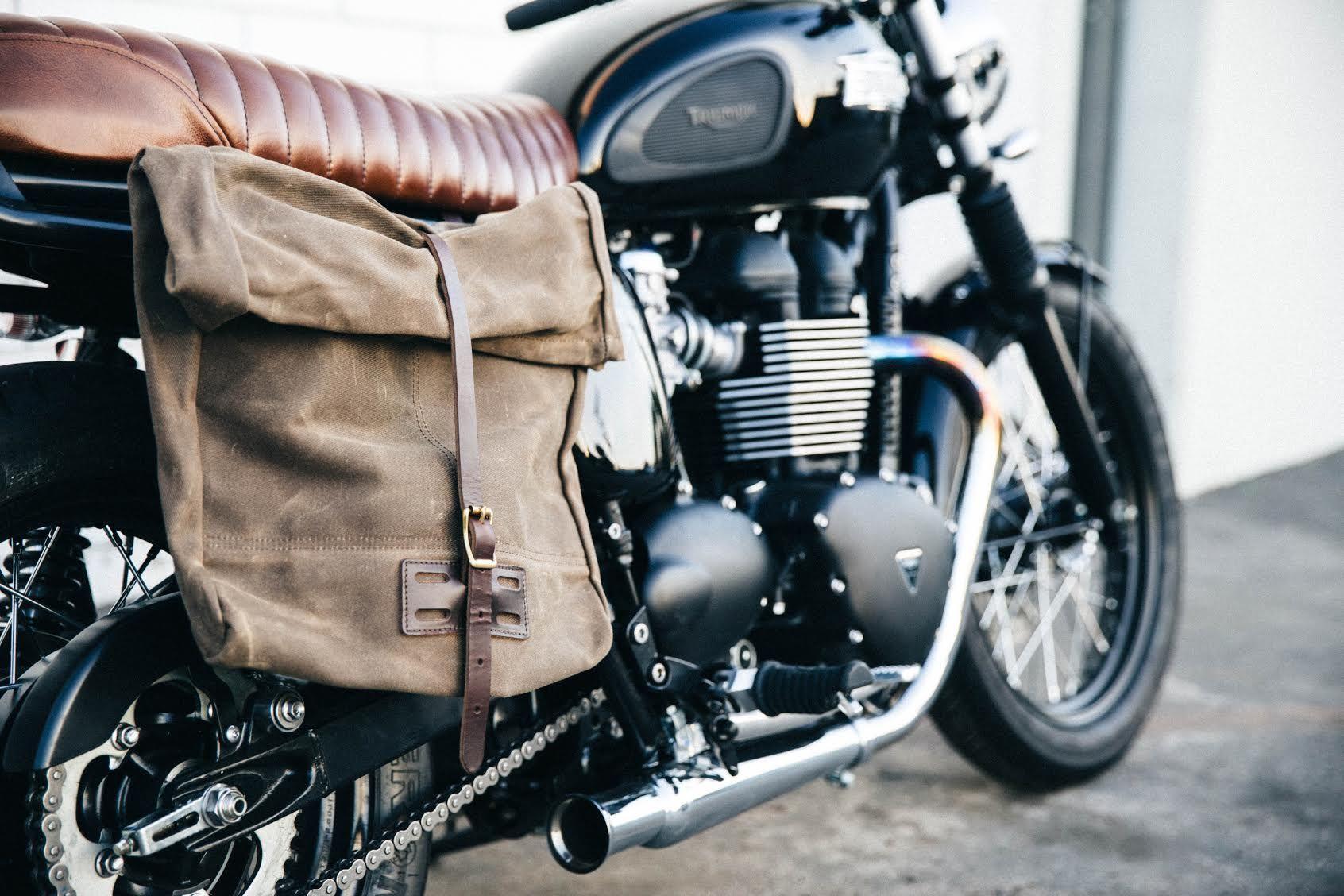 Refab Archival Rolltop Messenger As Motorcycle Saddlebag