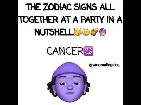 Zodiac Signs All Together In A Party Must See Youtube Zodiac Signs Funny Zodiac Funny Horoscope Funny