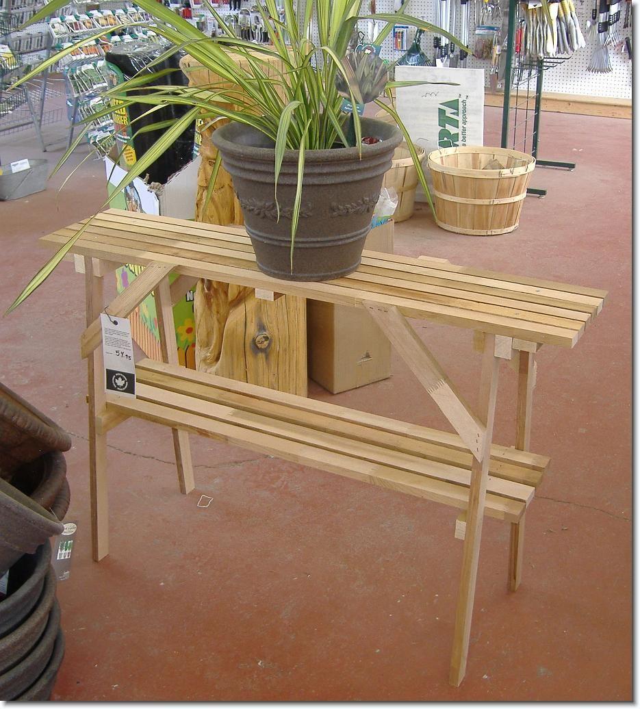Cedar Wood Plant Stand Idea