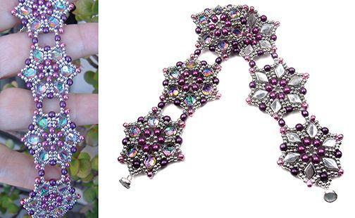 Starflower Bracelet using the new GemDuo beads