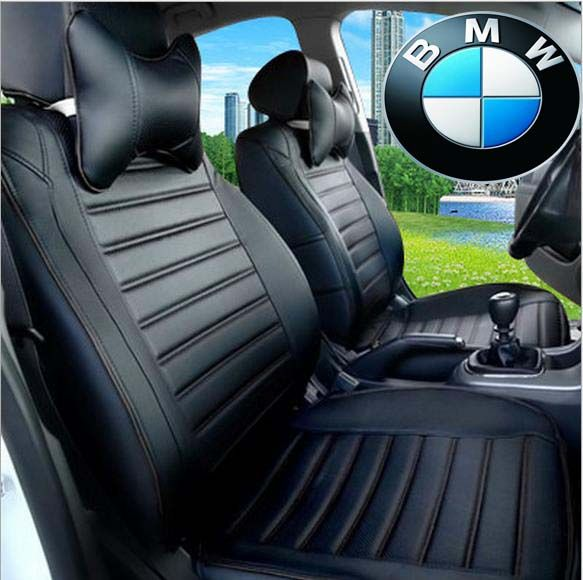 Special Customized Car Seat Covers PU Leather Car Seats Cover Four Seasons  General For BMW SERIES