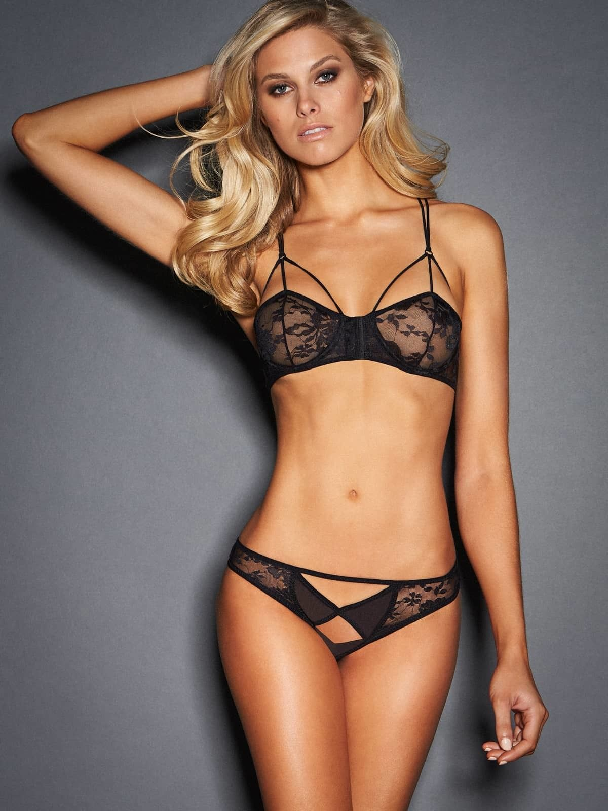 7db1dd5092e The Luisa lingerie set is ultra sexy with its revealing bra and panty. The  Luisa bra features sheer floral lace demi cups with strappy details in the  front ...
