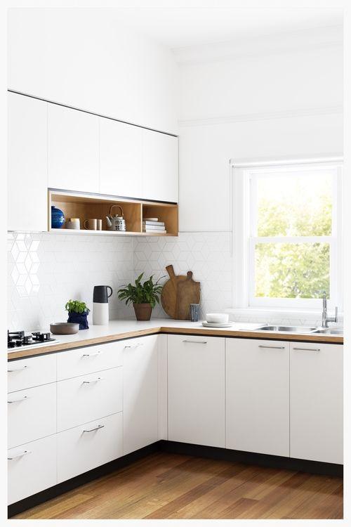 White plywood Kitchen 1 cantileverinteriors Cocina
