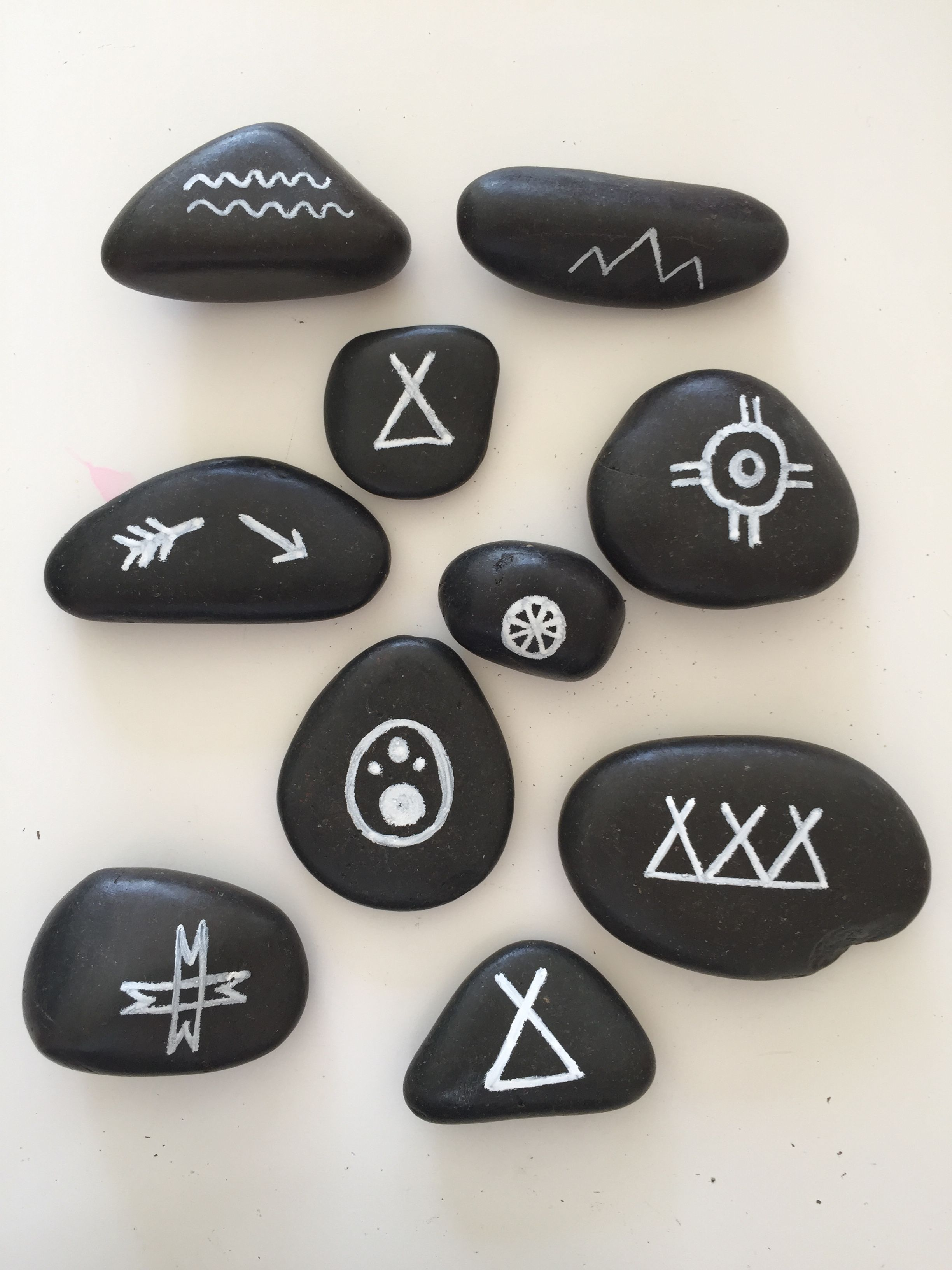 Kids Loved Their Rocks With Native American Symbols Happiness