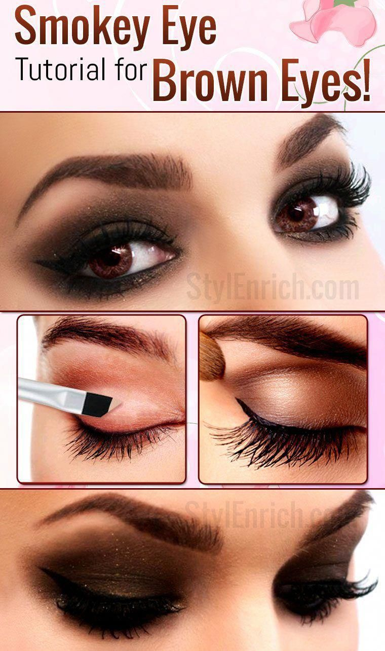 Do you have brown eyes? Learn how to do a #SmokeyEye makeup for #BrownEyes. These are the easy eye makeup tips for beginners. #EyeMakeup #EyeMakeupTips # ...