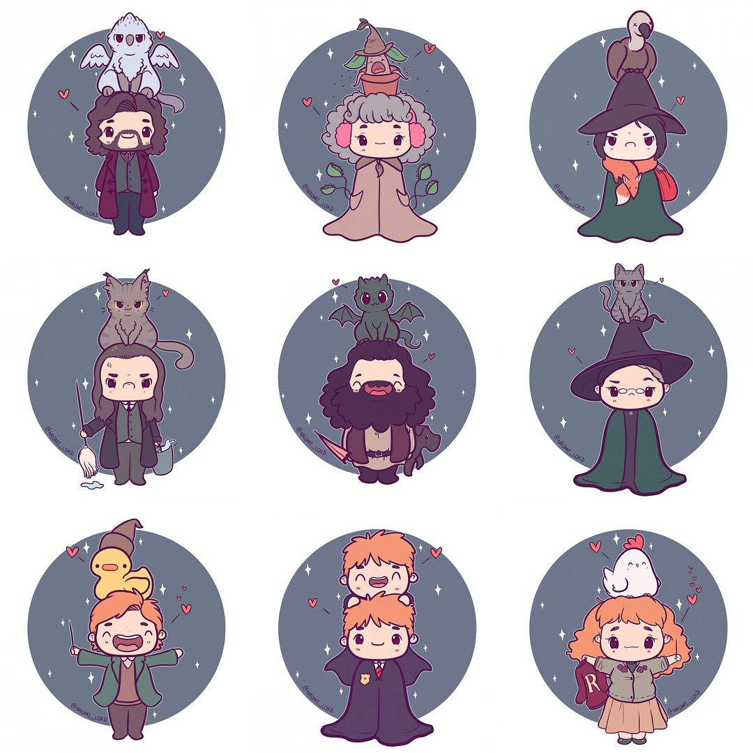 7 125 curtidas 108 coment rios naomi lord naomi lord no instagram so many chibis i 39 ve - Harry potter dessin ...