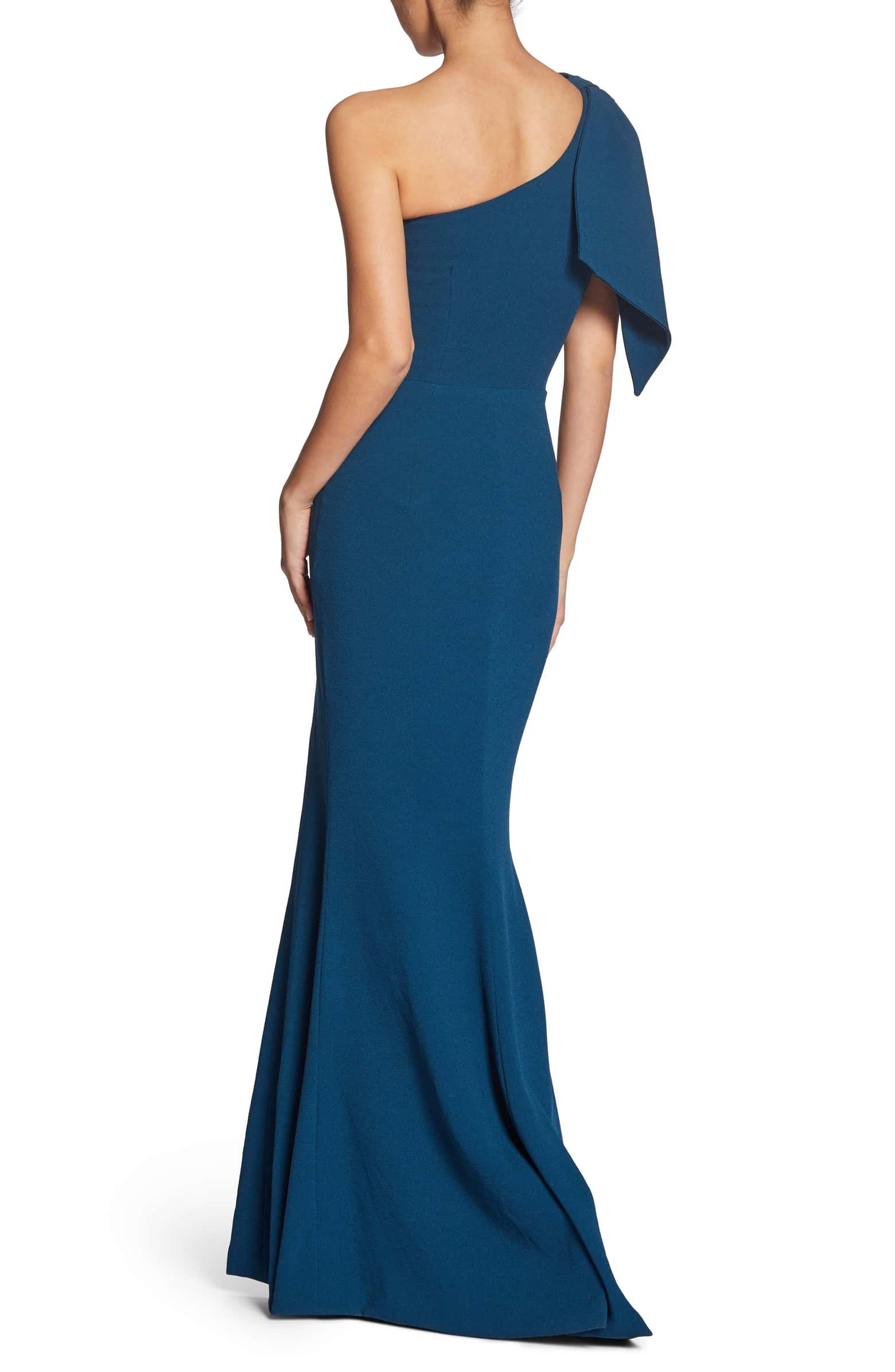 7a7a8001177 Georgina One-Shoulder Crepe Gown