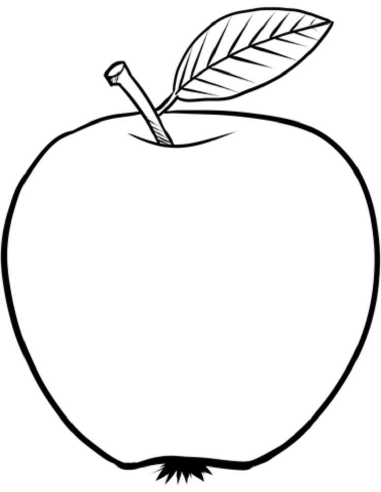 Apple Leaf Coloring Page Em 2020 Com Imagens Peixes De Feltro