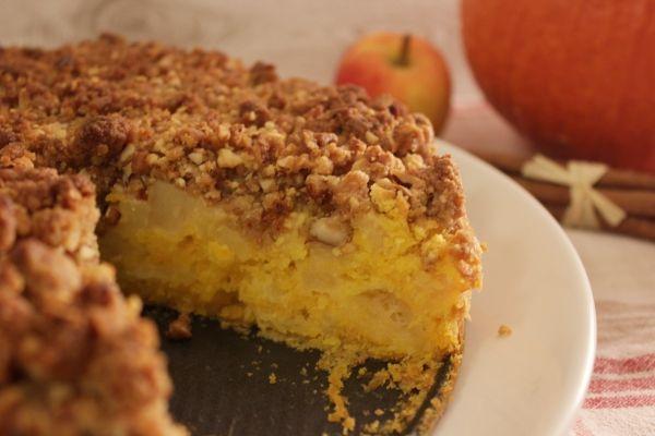 Line Backt Apfel Kurbis Kuchen Mit Mandel Streuseln Cookies Kuchen Ohne Backen Essen Und Trinken Und Streusel