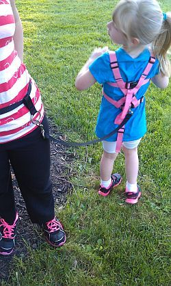 Parent waist belt tether with ChildtoAdult Harness with