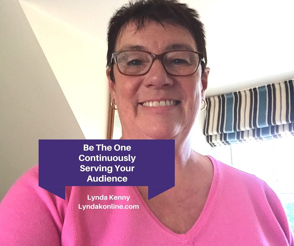 """Be the One Continuously Serving Your Audience Continuously serving your audience is better than someone who is a""""flash in the pan"""" marketer who comes on strong(...)"""