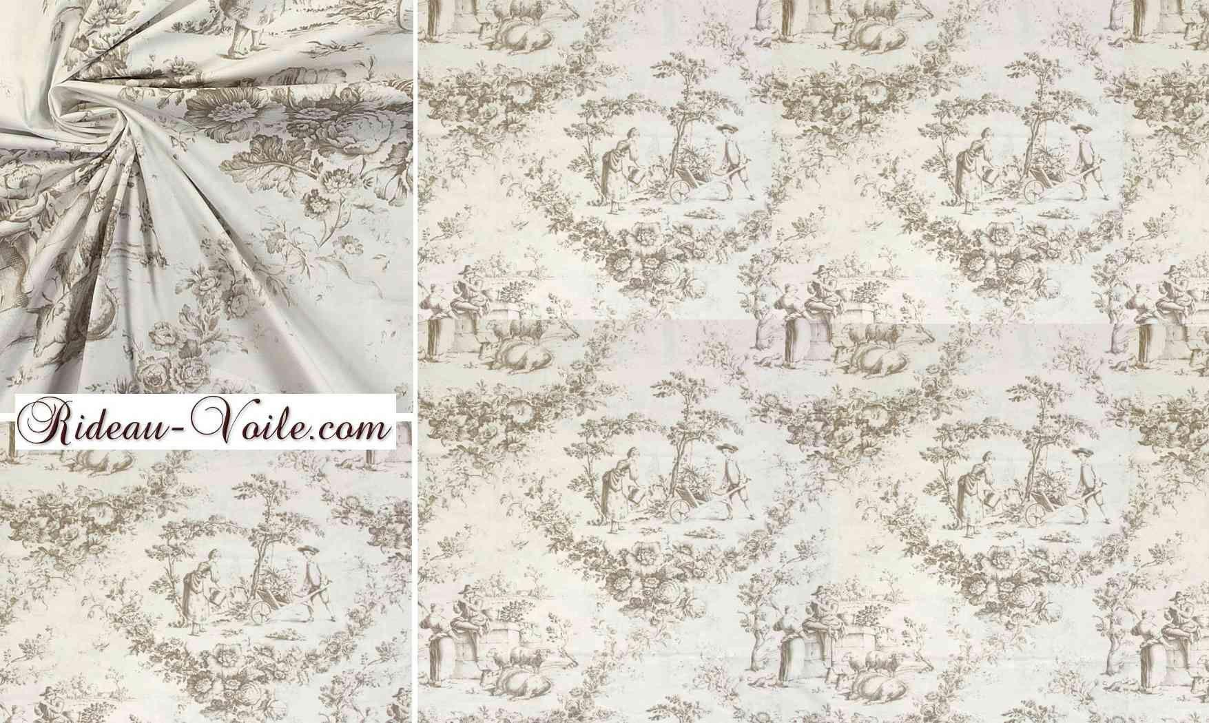 toile de jouy textile d coration rideau d coration rideau curtain eyelets drapes vorhang. Black Bedroom Furniture Sets. Home Design Ideas