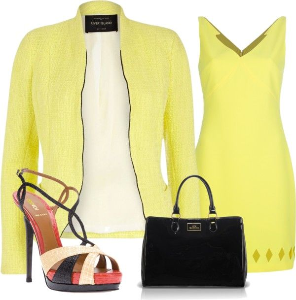 """Yellow"" by koivy2604 ❤ liked on Polyvore"