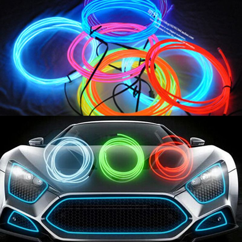 5m EL decorative strip light car interior lights ambient lighting retrofit body trim interior led cold  sc 1 st  Pinterest & 5m EL decorative strip light car interior lights ambient lighting ... azcodes.com