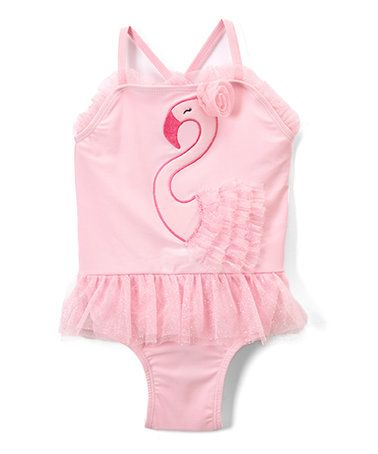 Loving this Pink Swan Lake One-Piece Skirted Swimsuit - Infant & Toddler on #zulily! #zulilyfinds
